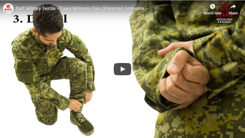 Uniformes militares para diferentes ambientes