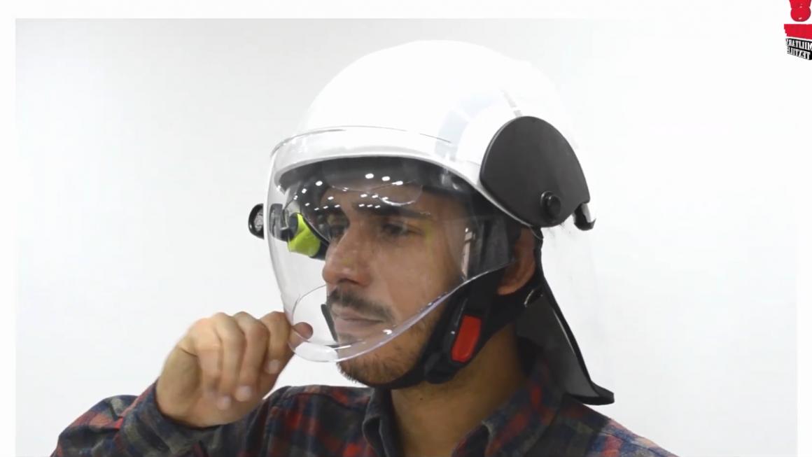 Nuevo casco para bomberos